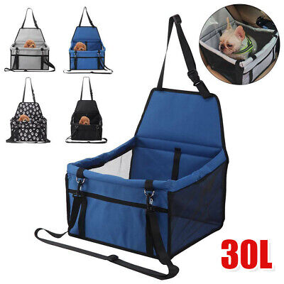 Portable Car Seat Carrier Cat Dog Pet Puppy Travel Cage Booster Belt Bag