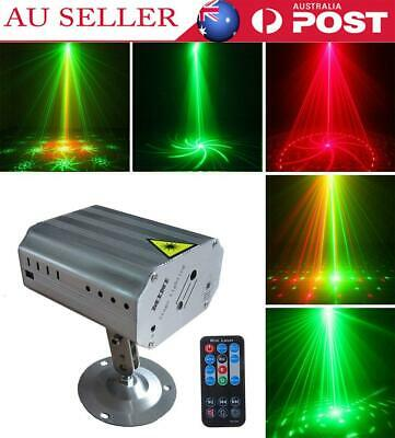 Sound Active RGB LED Laser Stage Light Disco Xmas Club DJ Party With Remote