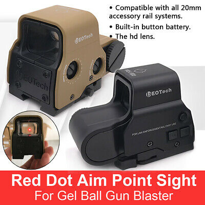 Red Dot Holographic Sight 558 Tactical Airsoft Scope Sight For Gel ball blaster