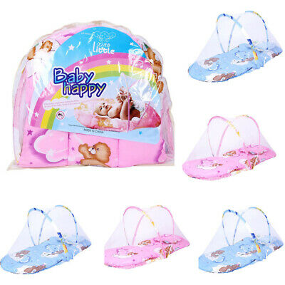 New Portable Foldable Soft Baby Kid Infant Bed Dot Zipper Mosquito Net Tent Crib