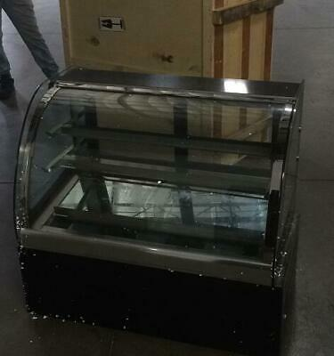 USED Countertop Refrigerated Cake Showcase 220V Commercial Diamond Glass Display