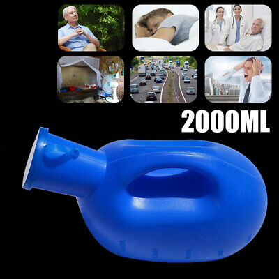 2000ML Plastic Outdoor Urine Bottle w/Lid Male Mens Pee Urinal Storage Camping