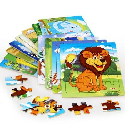 20 pieces of wooden animal jigsaw puzzle educational toys for children