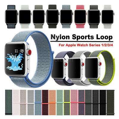 Woven Nylon Sport Loop Cinturino Watch Strap Per Apple Watch Band 44mm 42mm 40mm