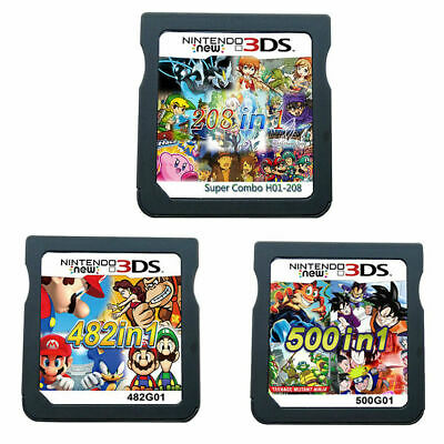 482/208/500 IN 1 Game Cartridge Card For Nintendo DS 2DS 3DS NDS NDSL NDSi