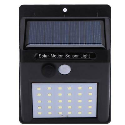 30 LED Solar Power 3mode PIR Motion Sensor Wall White Light Outdoor Garden lamp