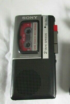 Sony M-740 Microcassette Recorder Plus Tape hard to find