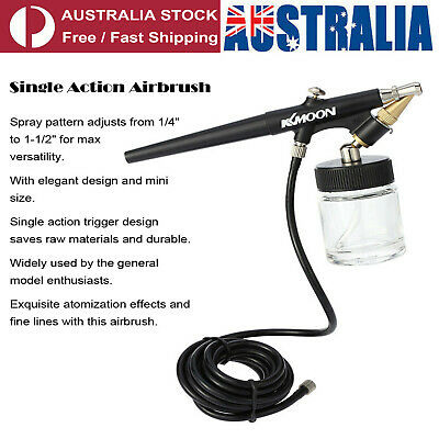 22cc Siphon Feed Airbrush Single Action Air Brush Kit 0.8mm Spray Gun Paint Tool