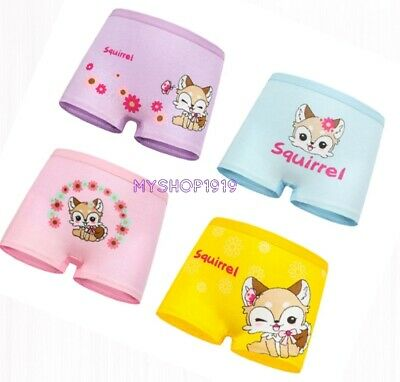 Girls 4 pack COTTON pants briefs knickers boxers shorts age Age 2 4 5 6 7 8 9 Yr