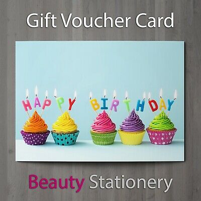 Birthday Gift Voucher For Party Celebration Beauty Spa Wellness  A7 + Envelopes