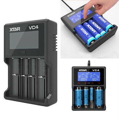 XTAR VC4 USB Li-Ion Ni-MH Battery LCD 18350 CR123A 18650 Vape Battery Charger