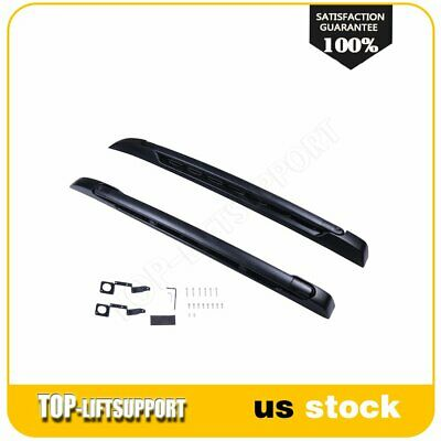 Fit For 05-18 Toyota Tacoma Double Cab Aluminum Roof Rack Side Rails Bars Kit