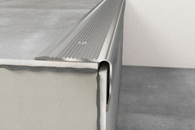 Anodised Aluminium Stair Nosing Edge Trim Step Nose Edging Nosings -1.20 m long
