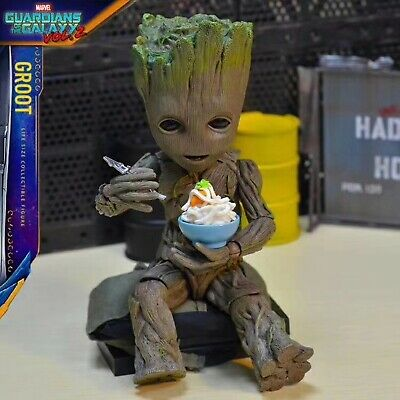 Hot Toys Marvel Groot Guardians of The Galaxy Avengers 1:1 Cute Baby Tree Man