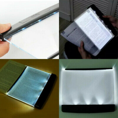 LED Light Wedge Eyes Protect Panel Book Reading Lamp Paperback Night Vision HOT