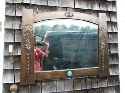 Antique English Arts & Crafts Copper Mirror , Attr. To Liberty,Knox, Ruskin