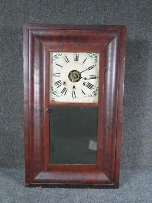 RARE antique 1840s OGEE CLOCK with 3 KEY HOLES,CHAUNCEY BOARDMAN of BRISTOL,CT.