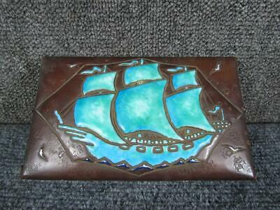 Antique Boston Arts & Crafts School Copper & Enamel Jewelry Box