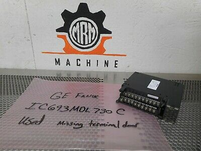 GE Fanuc IC693MDL730C Output Module 12/24VDC 2A 8PT POS Used With Warranty