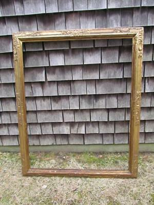 Antique Hand Carved Thulin Painting Frame, 1933 #2540, Arts & Crafts Fits 40X32""