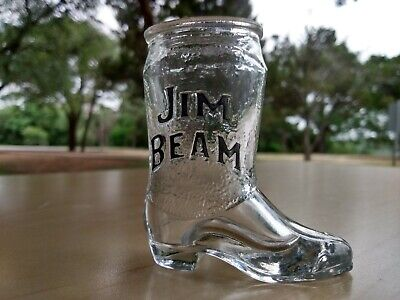 Jim Bean Boot  Shot Glass barware Shotglass glasses liqour whiskey booze college