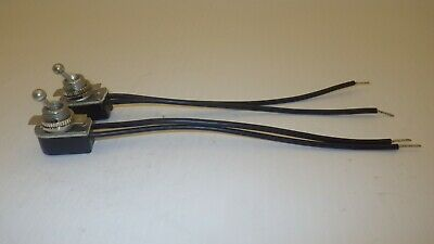 Unbranded Toggle Switch With Wires, 6A 125Vac 3A 250Vac, Lot Of 2, Nnb