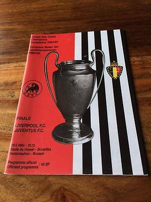 Liverpool V Juventus 1985 European Cup Final Programme Mint Free Postage Look