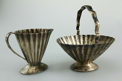 Antique Sterling Silver Reed and Barton Pitcher & Basket - Bowl American Silver