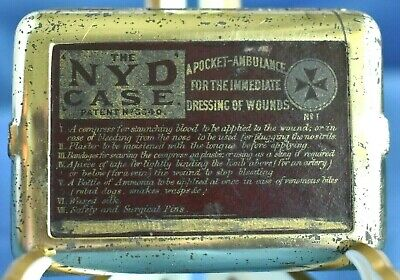Rare Antique Medical 1880 The NYD CASE No. 1 Pocket Ambulance Dressing Of Wounds