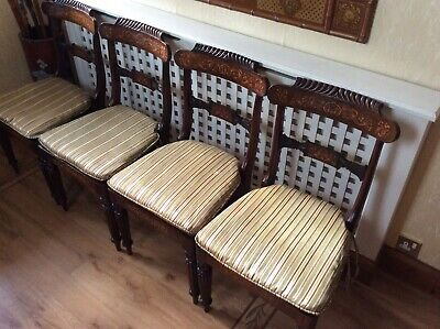 Set Of Four Regency Rosewood Dining Chairs
