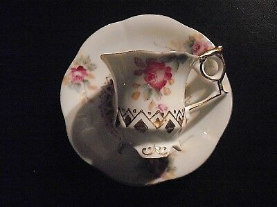 Vintage Miniature Cup & Saucer Bone China Made in Occupied Japan