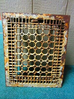 Antique Vintage Art Deco Cast Iron Floor Register Grate Vent