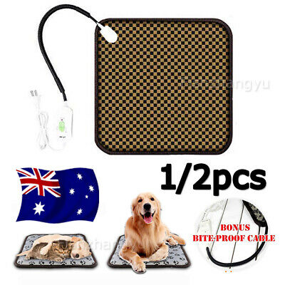 Pet Electric Heat Heated Heating Heater Pad Mat Blanket Bed For Dog Cat Bunny AU