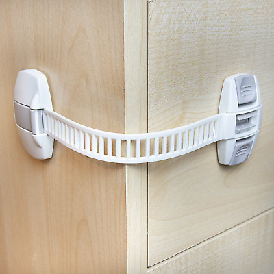 Baby Child Safety Cupboard Locks Kid Proof Door Fridge Latches Pack of 1/2/5/10
