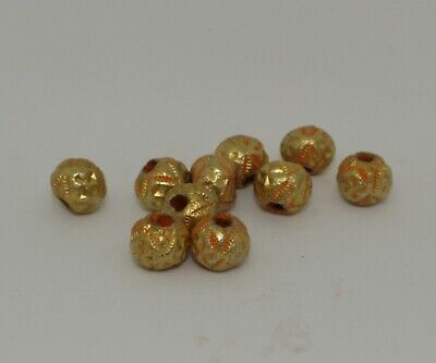 10 X Post Medieval Gold Beads - No Reserve 2112