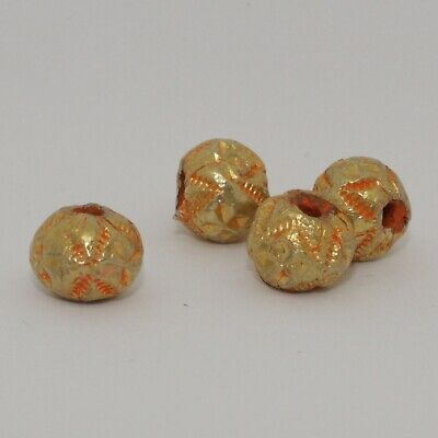 4 X Post Medieval Gold Beads - No Reserve 033
