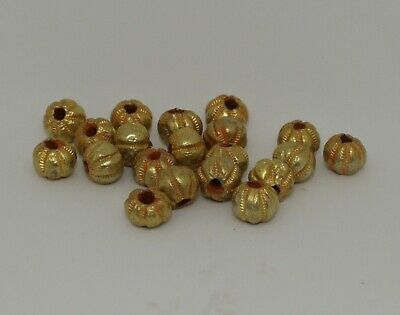 20 X Post Medieval Gold Beads - No Reserve 212211