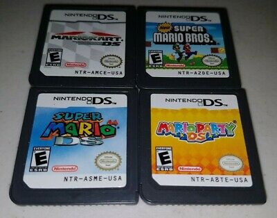 Mario Party, Mario Kart, Mario 64 & Mario Bros ( Nintendo Ds ) Authentic :)
