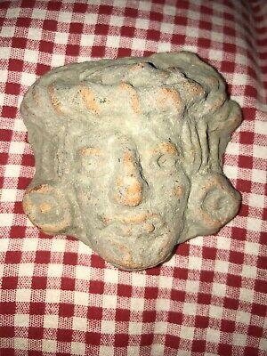 RARE Pre-Columbian Mayan Artifact Pottery Central America God Natives