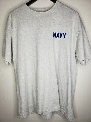 daee36b77 Vintage 90's US Navy Blue Spell Out T-Shirt Men's XL Logo spellout workout  PT