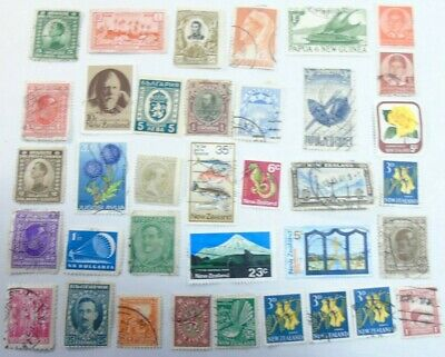 Collection of Stamps - Assorted - Eastern Europe, Caribbean, New Zealand, Papua