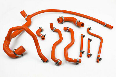 Stoney Racing Land Rover Discovery 300TDI Silicone Coolant Radiator Hoses Orange