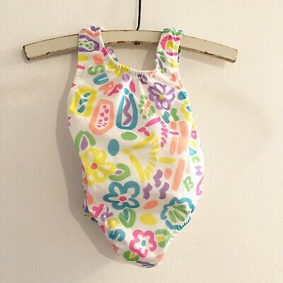 Vintage Royal Heir Baby Girl One Piece Swimsuit Multi Color Bathing Suit Bow