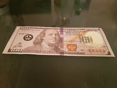 Fake Bank Notes PLAY MONEY 100 Dollar Note Pretend Dollar This Is For 1 Note
