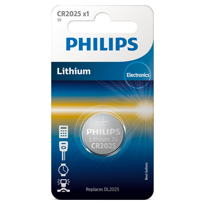 UK BS025-CB Philips CR2025 3v lithium button cell battery