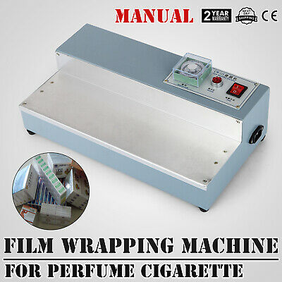 220V Cigarette Perfume Box Cellophane Wrapping Machine Stainless Sealing Plate
