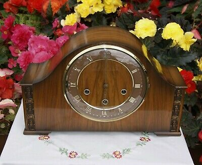 Smiths Antique Art Deco Westminster Chime Mantel Clock, Excellent!