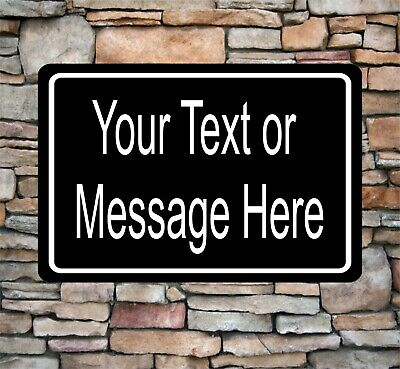 """New Personalized 8"""" x 12"""" Aluminum Metal Sign Customized Your Custom Text CT3"""