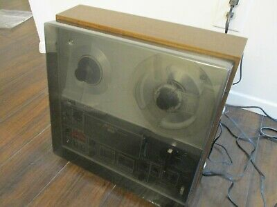 Classic Vintage Sony TC-366 Reel To Reel Tape Deck w/Dust Cover
