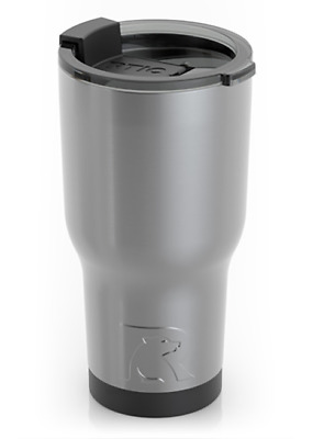 RTIC 20 Oz SILVER Stainless Steel Tumbler Vacuum Insulated Double Wall NEW
